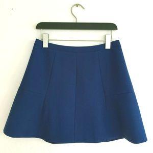 J Crew Blue Flute Skirt